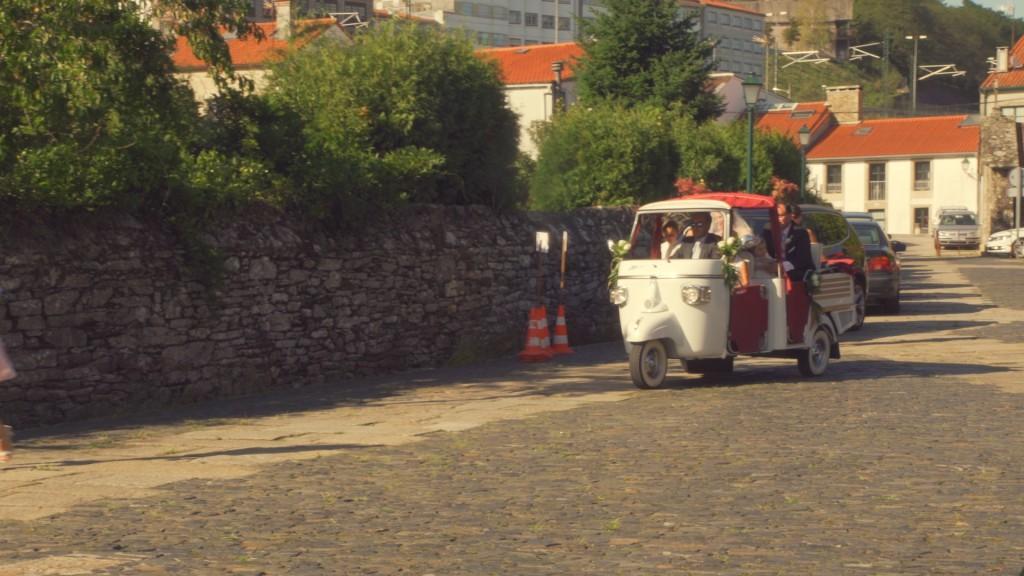 Transporte vídeo de boda de Laura y Titti