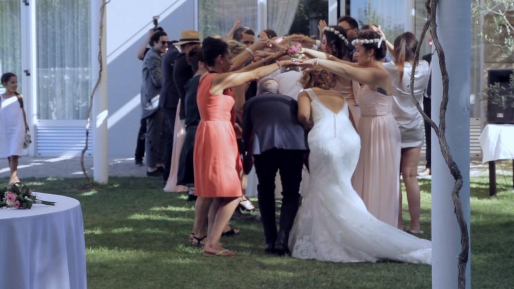 Flashmob vídeo de boda de Emilie y Nelson