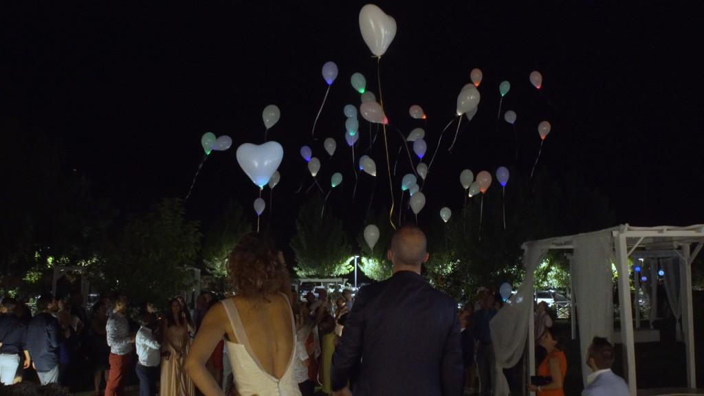 Globos vídeo de boda de Emilie y Nelson