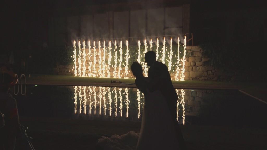 Fuegos vídeo de boda de Asun y Javi