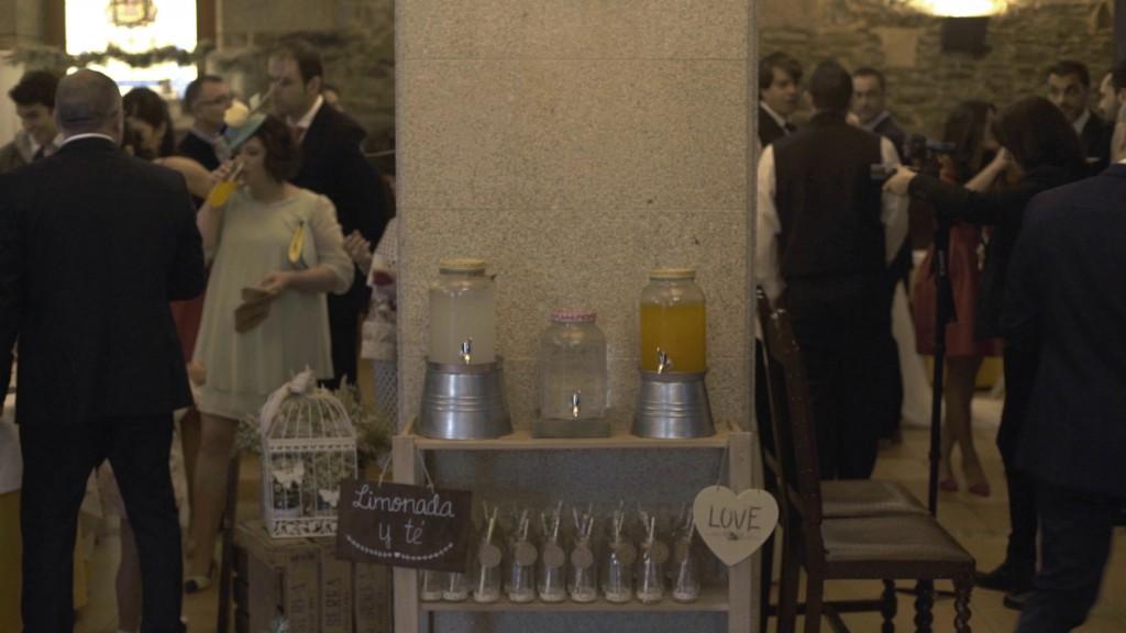 Limonada en boda de Cris y Berto