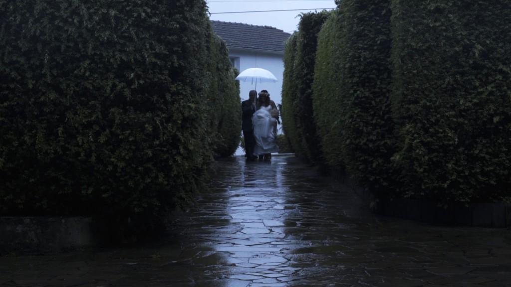 Llegada novia en boda de Cris y Berto