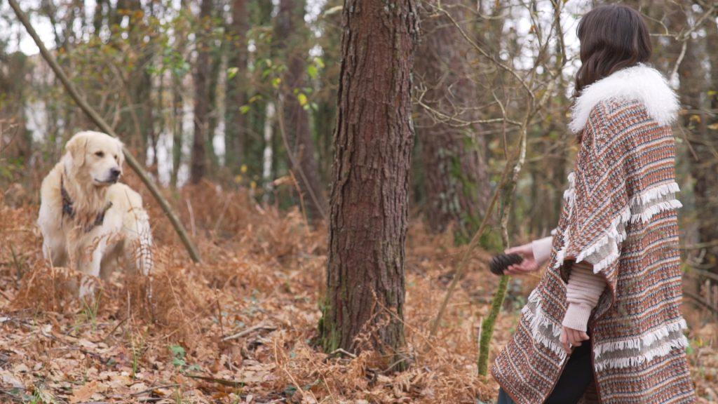 Gemma con perro en vídeo de Etiem otoño invierno 2017